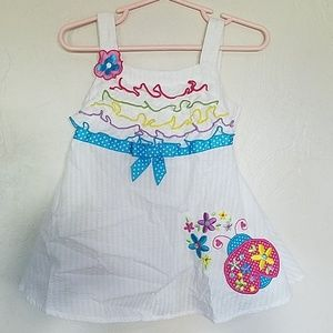 Baby girl white summer dress